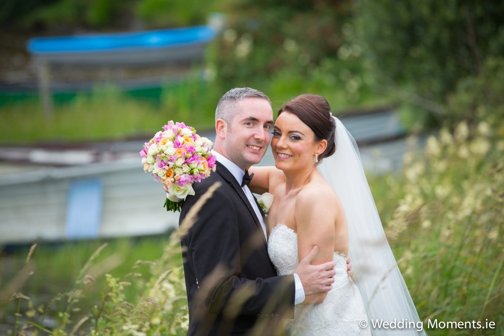 bridr and groom being photographed by a sligo wedding photographer