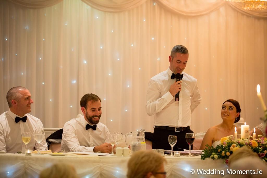 groom telling a joke