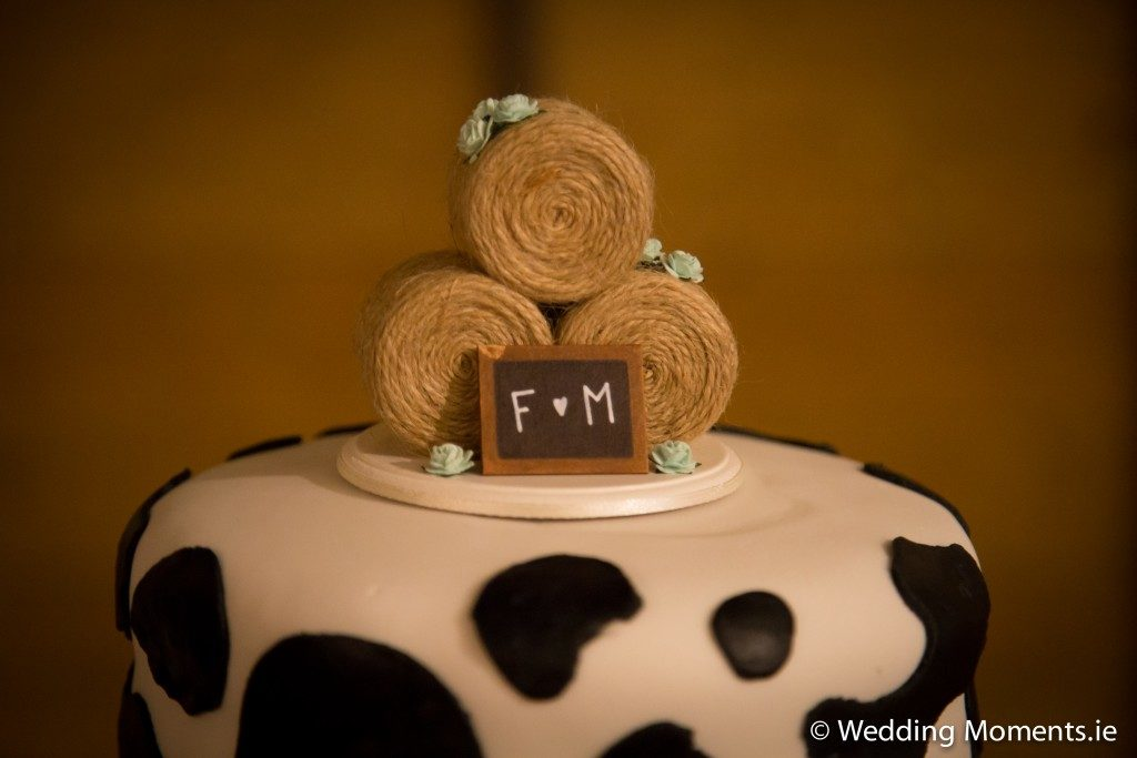 round bales on top of cake