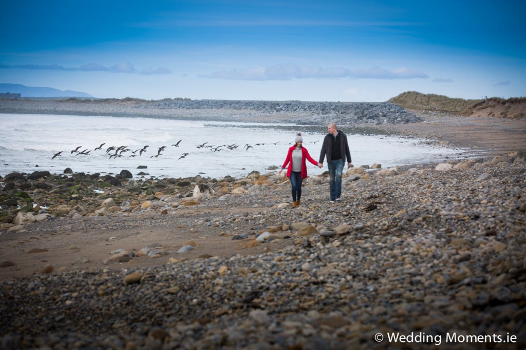 Niamh & Evan's pre wedding shoot on Knocknarea mountain Sligo-Wedding Moments
